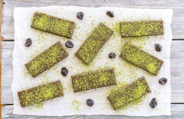 Matcha energy bars